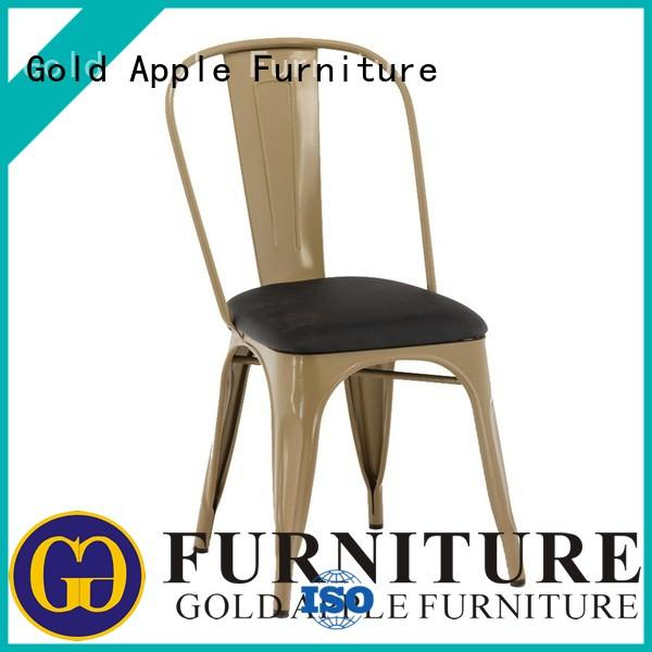upholstered dining chairs for sale stainless steel for restaurant Gold Apple