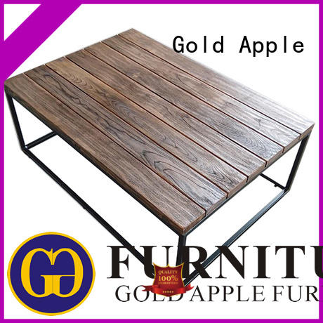 restaurant modern wood and glass coffee table tables Gold Apple company