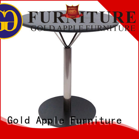 Gold Apple rectangle wood coffee table set for coffee shop