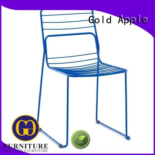 Gold Apple on-sale modern stackable chairs classic design for restaurant