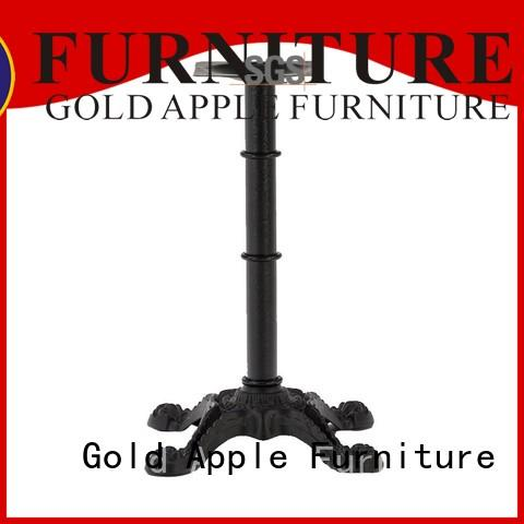 Gold Apple powder coating metal pedestal table base personalized for bistro