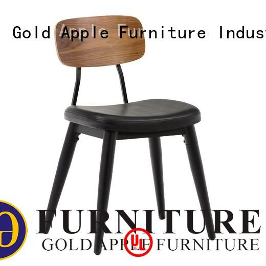 Gold Apple stainless steel metal dining chairs with cushion modern armchair