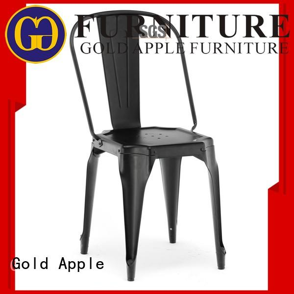 Gold Apple black modern stackable chairs durable for restaurant