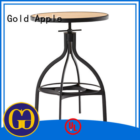 Gold Apple round table metal bar table top galvanized frame