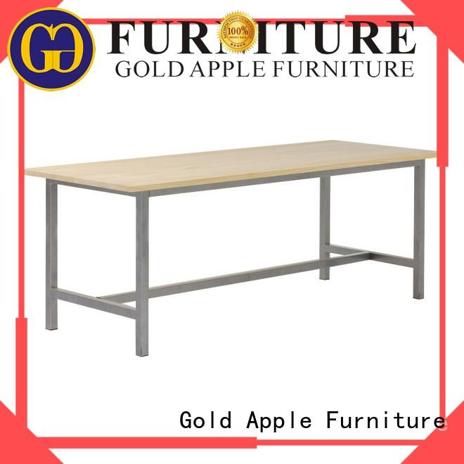 Gold Apple high-quality small round wood dining table for catering