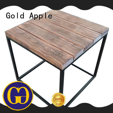 Gold Apple chic design round coffee tables for sale high-quality for coffee shop