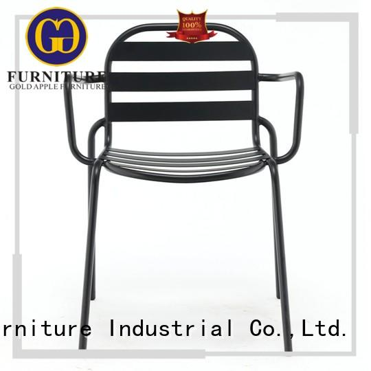 comfortable black patio chairs metal frame steel restaurant furniture