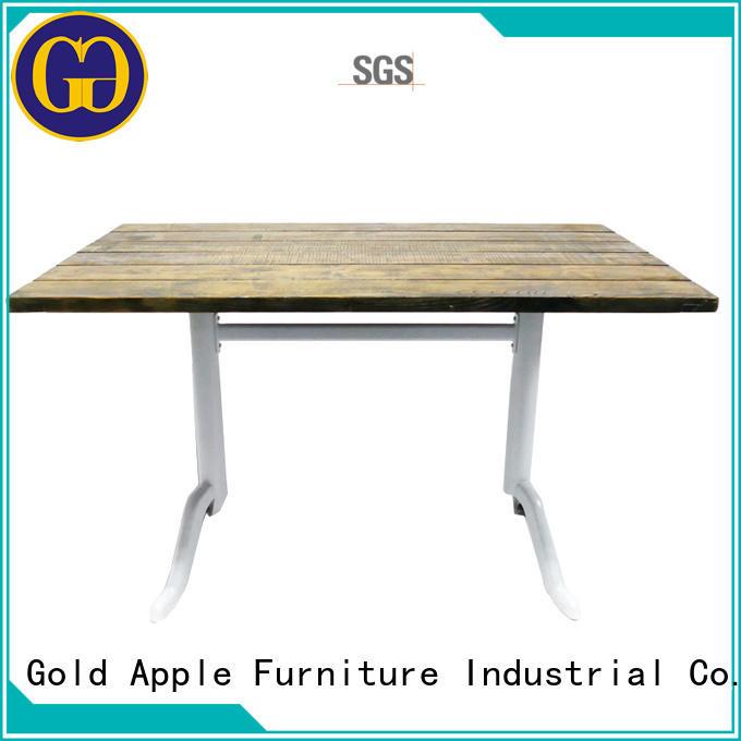 Gold Apple durable metal patio table top for garden