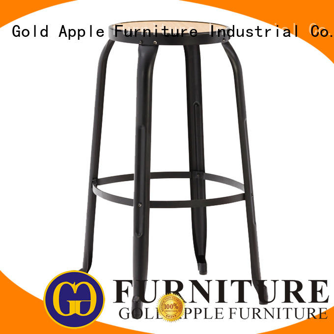 metal kitchen counter stools vintage bar furniture Gold Apple