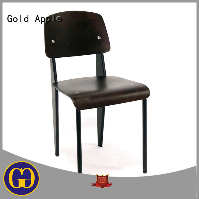 Gold Apple european style wood cafe chair on-sale for kitchen