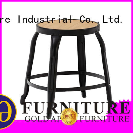 Gold Apple low price low stool chair rose gold wood seating