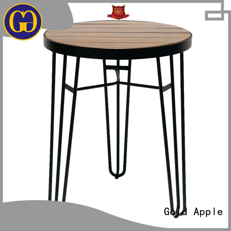 Gold Apple chic design small long dining table industrial for restaurant