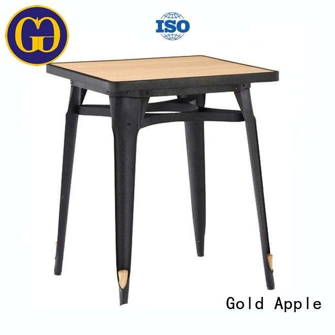 Gold Apple chic design small round wood dining table for catering