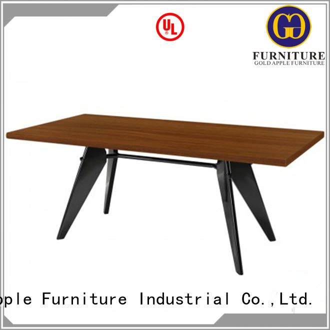 comfortable small long dining table high-quality at discount Gold Apple