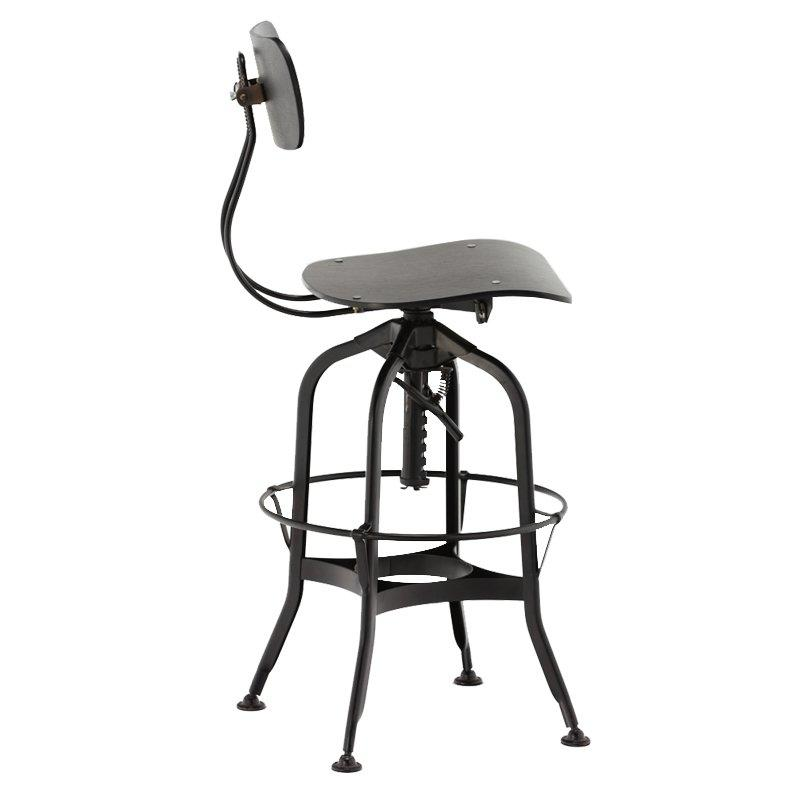 Gold Apple high-end wood stools with backs wooden seat for restaurant-3