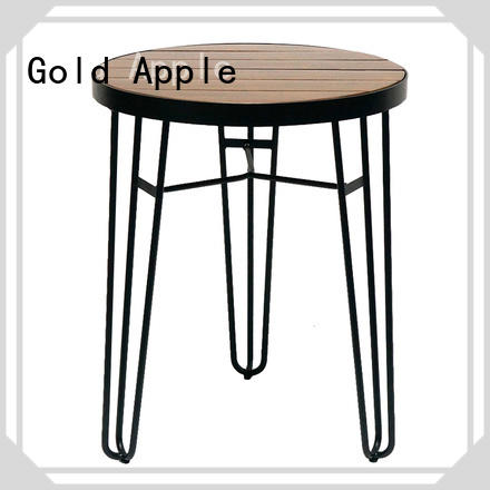 Gold Apple high-end wood furniture dining table industrial at discount
