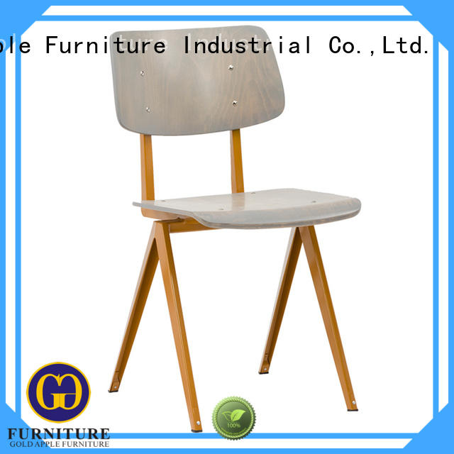 Gold Apple plywood metal chairs for sale electroplated french style