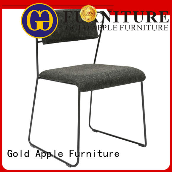metal coffee upholstered leather and metal chair Gold Apple Brand company