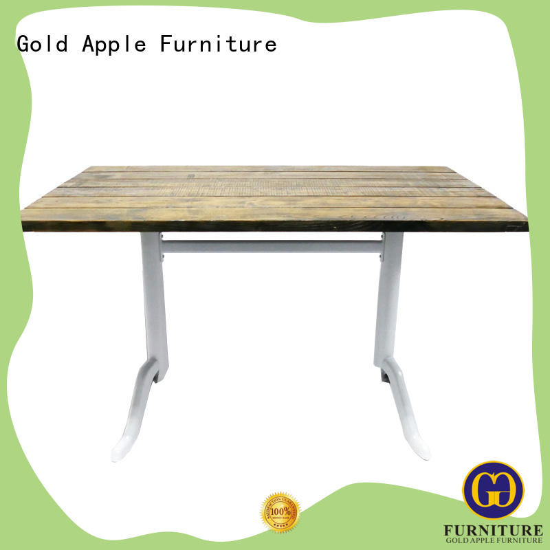 Gold Apple luxury wood furniture dining table industrial for restaurant