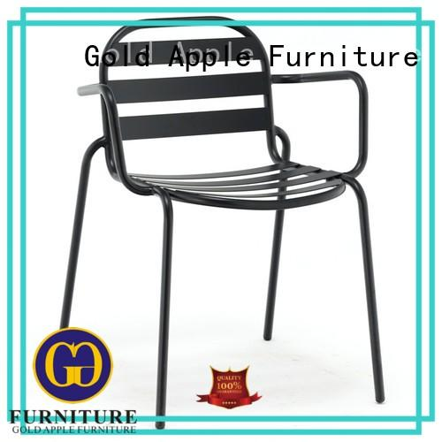 industrial metal and wood dining chairs shelf stack Gold Apple