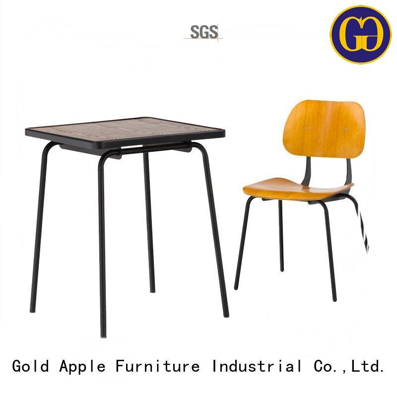 Gold Apple folding best dining table set round shape restaurant furniture