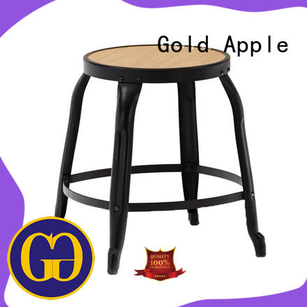 Gold Apple buck-rotating low wooden stool bistro at discount