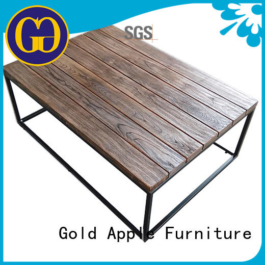 dark wood coffee table with glass top modern for wholesale Gold Apple