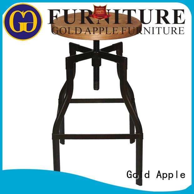 wooden stool chair backs low Warranty Gold Apple