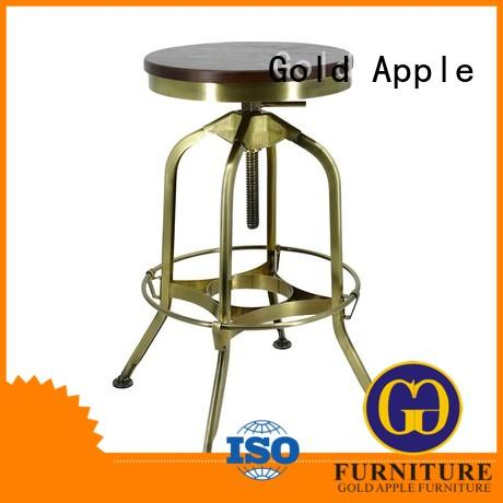 Gold Apple metal 24 inch swivel bar stools powder coating for wholesale