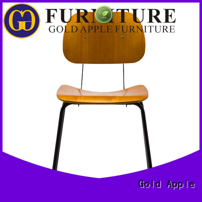 Gold Apple plywood solid wood kitchen chairs on-sale for kitchen