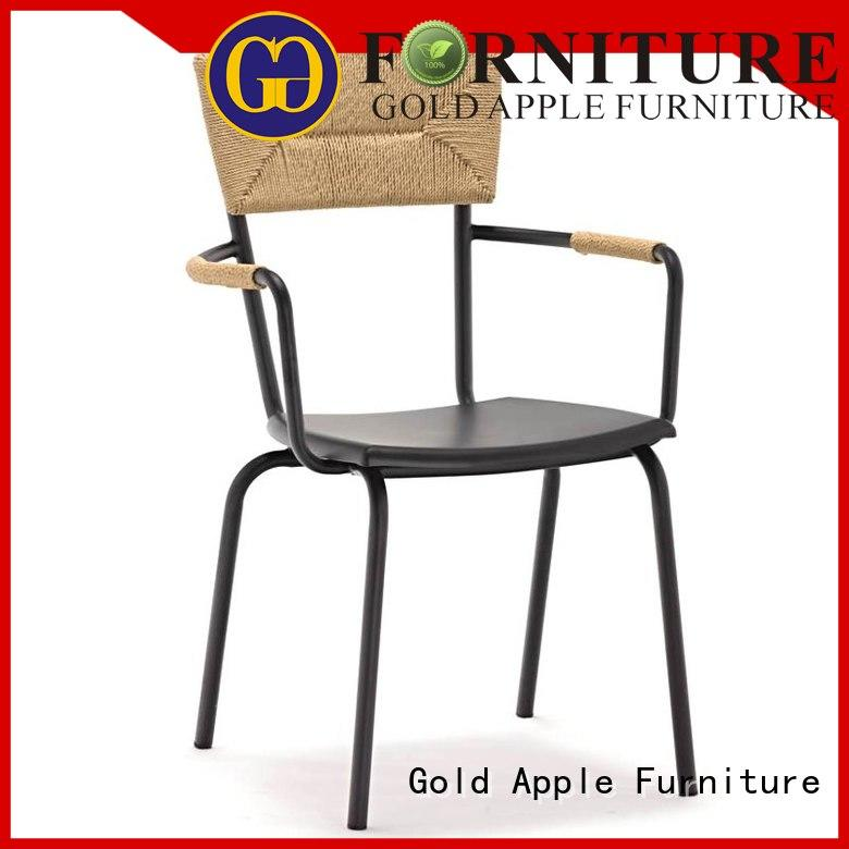 Gold Apple antique modern stackable chairs french coffee shop