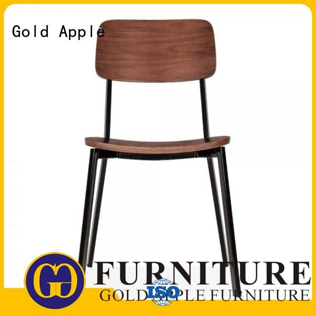Gold Apple antique style classic wooden chairs modern design coffee shop
