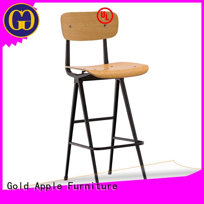 wooden breakfast bar stools adjustable height for bar Gold Apple