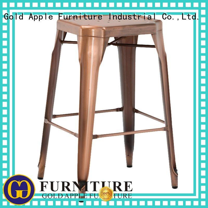 Gold Apple outdoor patio bar stools on-sale metal wire