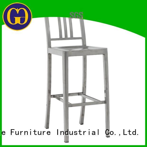 industrial outdoor garden stool low back for garden Gold Apple