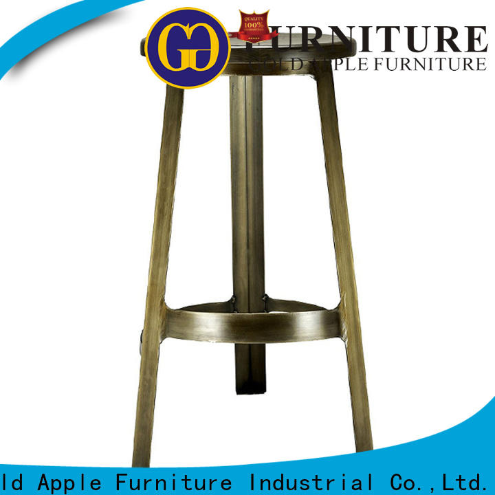 Gold Apple backless kitchen counter stools with backs dinning room with armrest