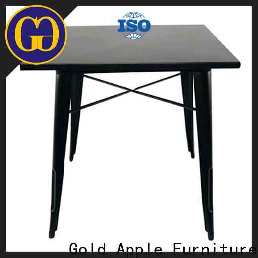 Gold Apple high-end large wooden dining table for restaurant