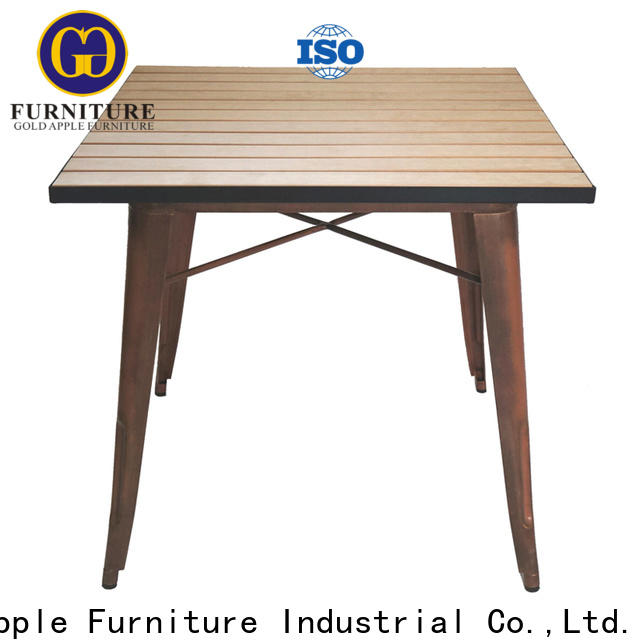 Gold Apple industrial outdoor sofa table restaurant for dining room