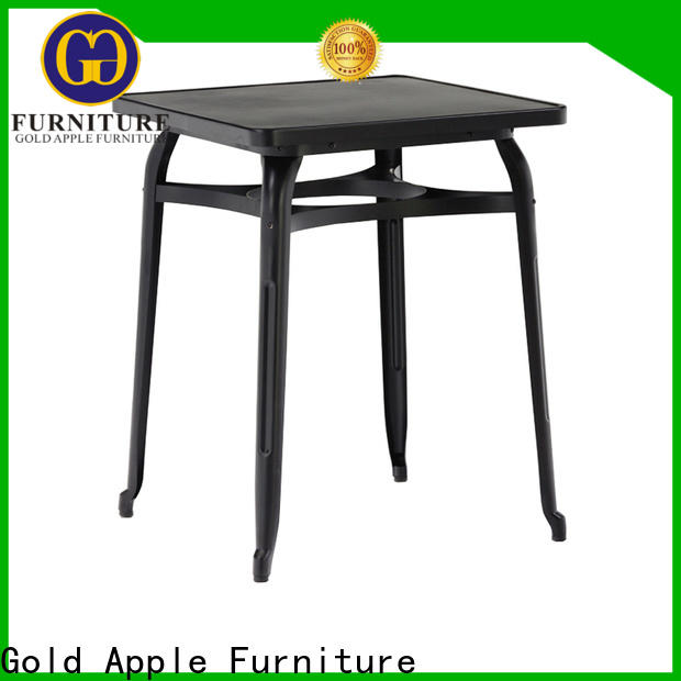 durable aluminum patio table wood commercial garden table