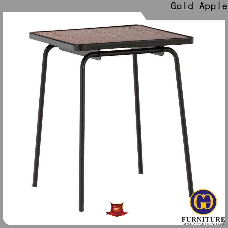 Gold Apple high-end large wooden dining table steel frame for catering